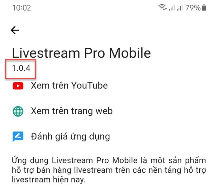 App chốt đơn Livestream Pro Mobile phiên bản 1.0.4