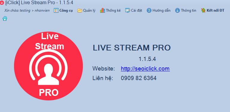 Cập nhật phiên bản 1.1.5.4 phần mềm LiveStream Pro