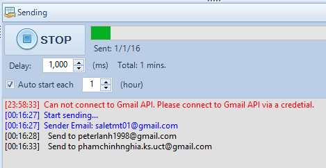 Phần mềm Gmail Marketing iClick