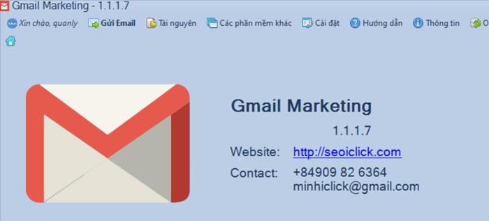 Nâng cấp phần mềm Gmail Marketing phiên bản 1.1.1.7