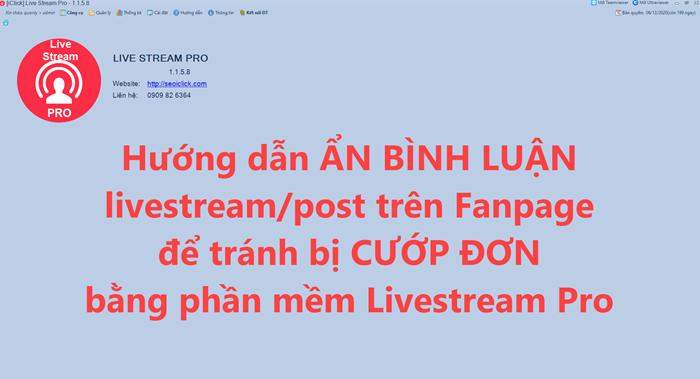 Video hướng dẫn ẩn bình luận livestream trên Fanpage để tránh bị cướp đơn