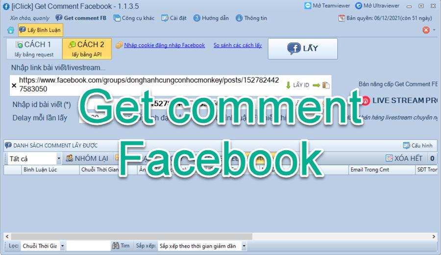Video hướng dẫn sử dụng phần mềm quét bình luận Get Comment Facebook