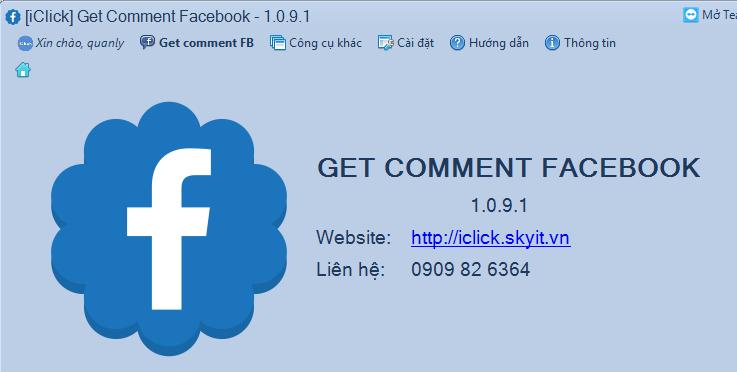 Hướng dẫn sử dụng phần mềm Get Comment Facebook