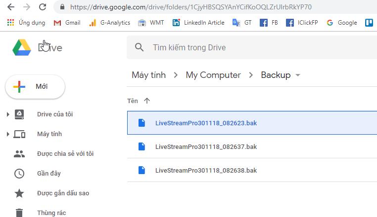 An toàn dữ liệu phần mềm Livestream Pro