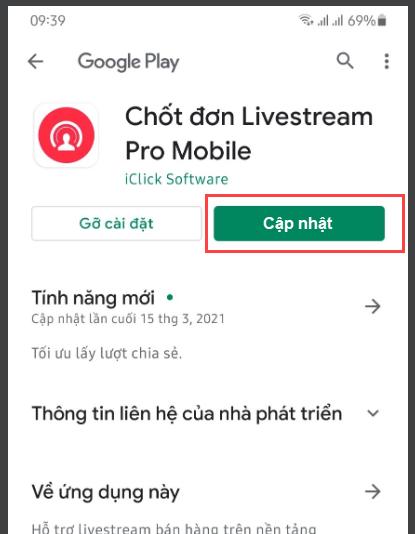 App chốt đơn livestream pro mobile