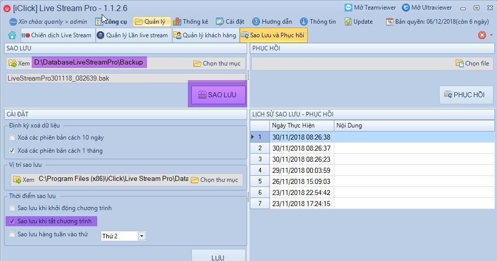 Bảo mật dữ liệu phần mềm livestream pro