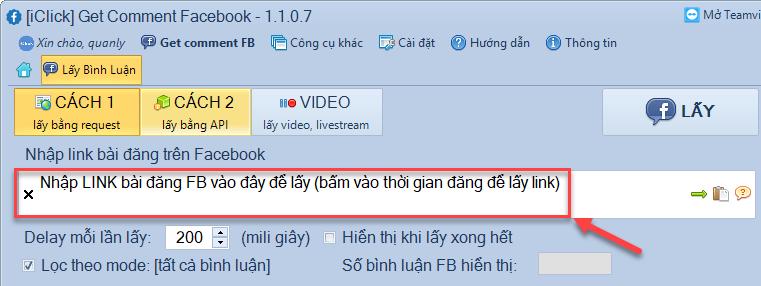 Cách lấy URL livestream Facebook