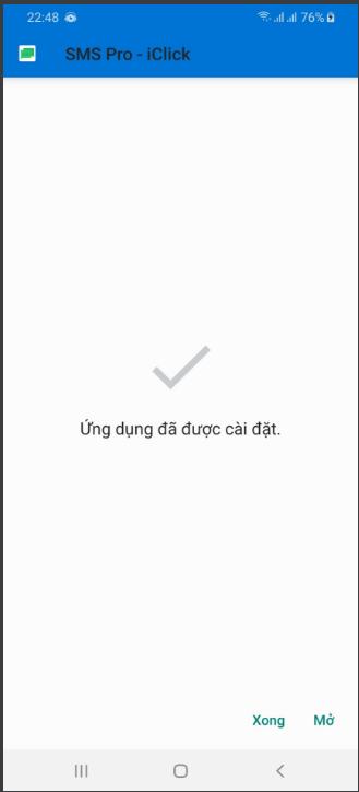 Cài đặt SMS Pro trên điện thoại