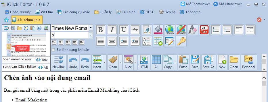 Chèn ảnh vào iClick Editor