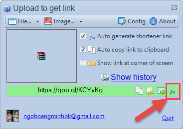 Công cụ Upload To Link iCick