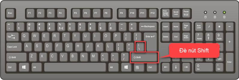 Cách gõ dấu xuyệt đứng (|) trên bàn phím