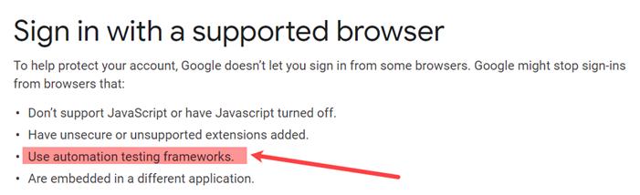 Google cảnh báo trình duyệt không an toàn