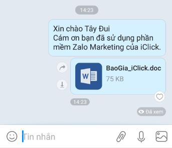 Cập nhật phần mềm Zalo Marketing phiên bản 1.1.1.6