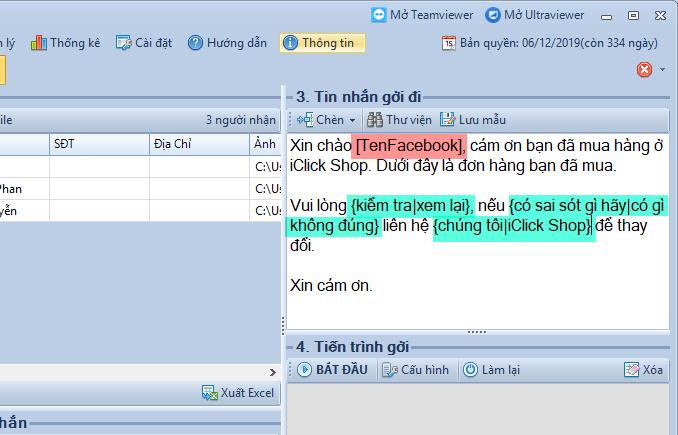 Gửi inbox facebook bằng phần mềm livestream pro