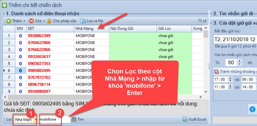 Gửi tin nhắn hàng loạt với phần mềm SMS Marketing