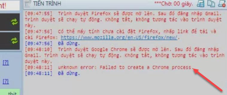 Xử lý gặp lỗi khi mở Chrome thêm Gmail hoặc cày thịt