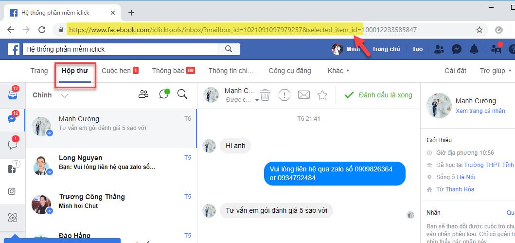 Hướng dẫn gửi tin nhắn thủ công qua fanpage với phần mềm Livestream Pro