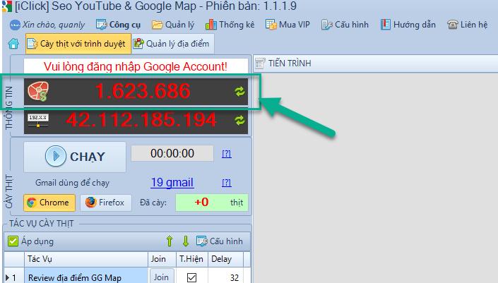 Không nhận được lượt đánh giá Google Map