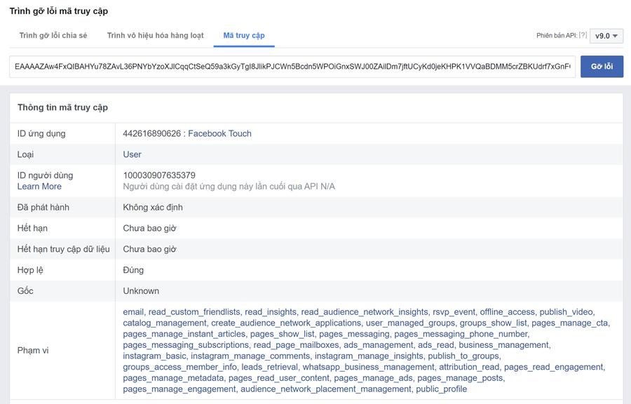Access Token Facebook 2021