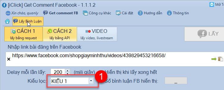 Lấy sót bình luận facebook