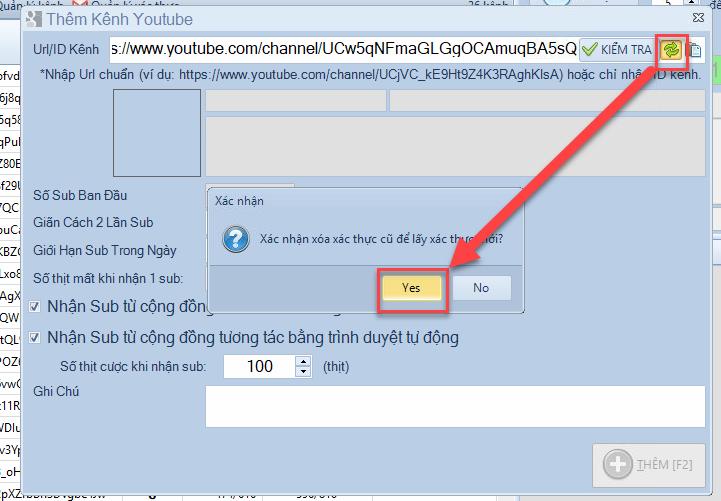Lỗi khai báo kênh Youtube  Invalid Credentials 401