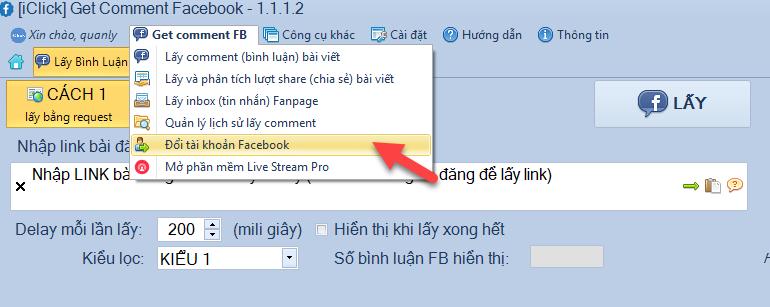 Lỗi lấy bình luận Facebook bằng phần mềm Livestream Pro và Get Comment Facebook