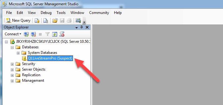 Xử lý lỗi database suspect MS SQL Server