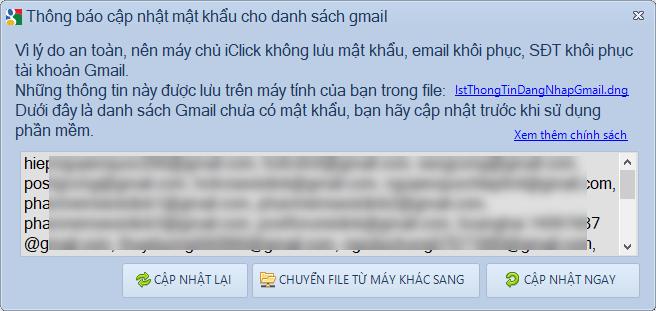 Lưu thông mật khẩu gmail trên máy tính