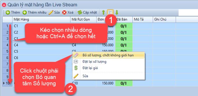 Nâng cấp phần mềm bán hàng livestream