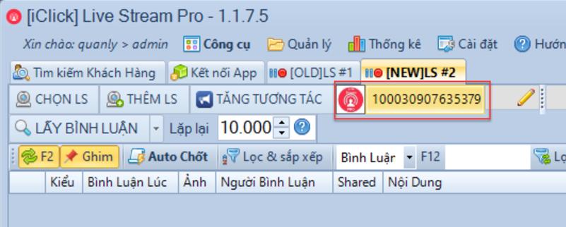 Nâng cấp phần mềm chốt đơn livestream pro phiên bản 1.1.7.5