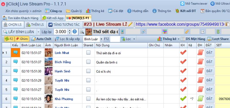 Cập nhật phiên bản 1.1.7.1 phần mềm LiveStream Pro
