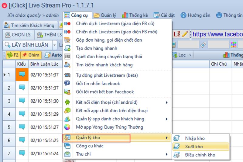 Nâng cấp phần mềm chốt đơn phiên bản 1.1.7.1