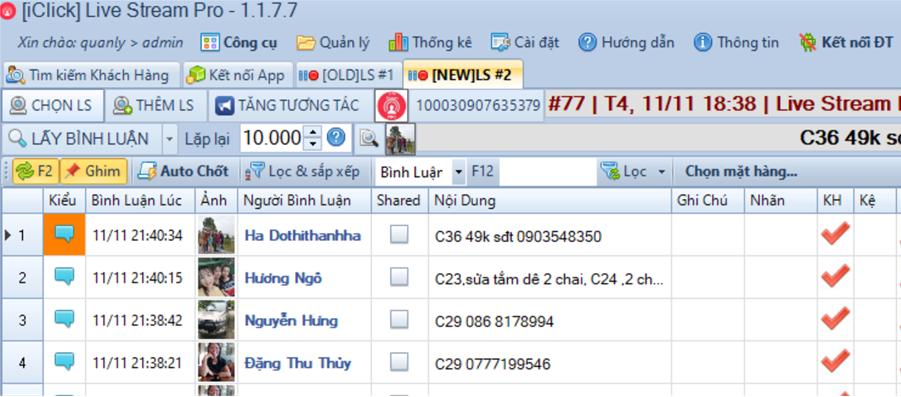 Cập nhật phiên bản 1.1.7.7 phần mềm LiveStream Pro
