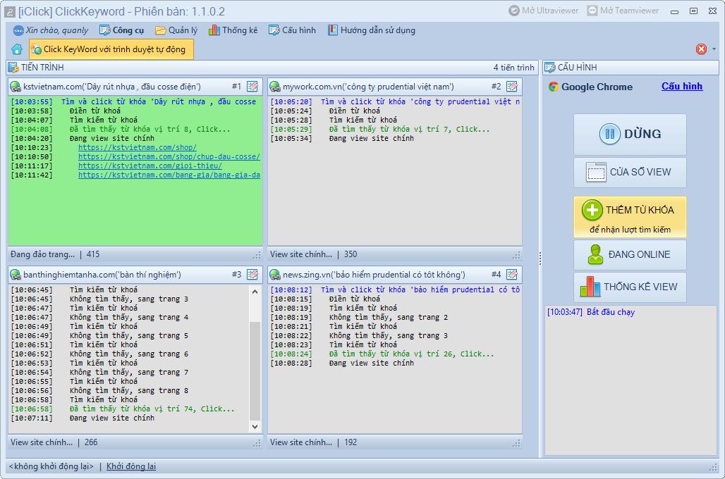 Nâng cấp phần mềm clickkeyword phiên bản 1.1.0.2