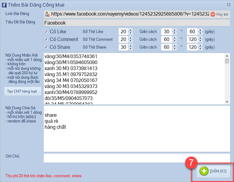Nâng cấp phần mềm Facebook Marketing