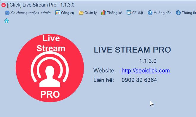 Cập nhật phiên bản 1.1.3.0 phần mềm LiveStream Pro
