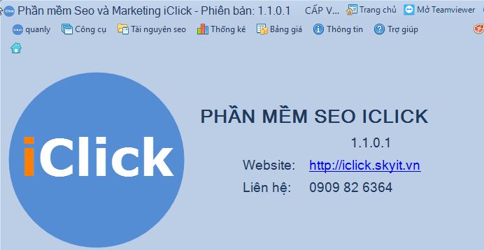 Cập nhật phần mềm seo iClick phiên bản 1.1.0.1 - Phần mềm iClick