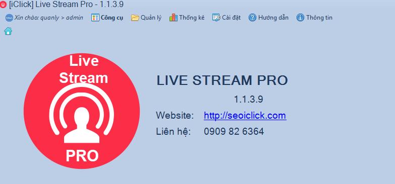 Cập nhật phiên bản 1.1.3.9 phần mềm LiveStream Pro