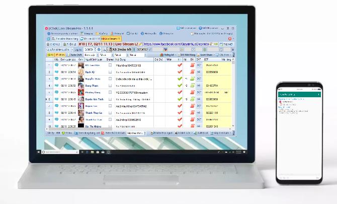 Phần mềm bán hàng livestream pro