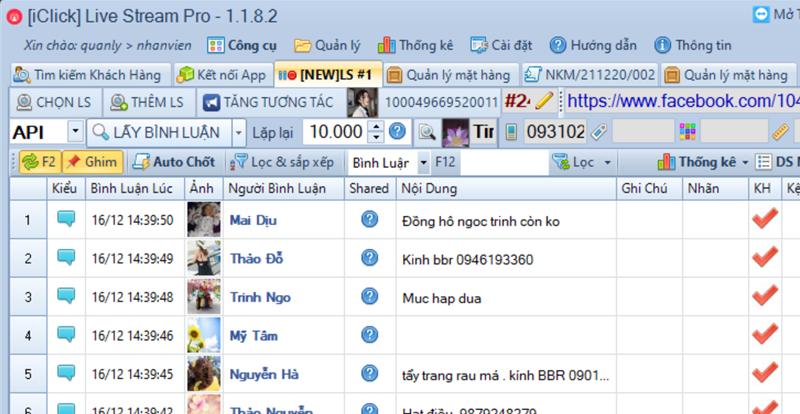 Cập nhật phiên bản 1.1.8.2 phần mềm LiveStream Pro