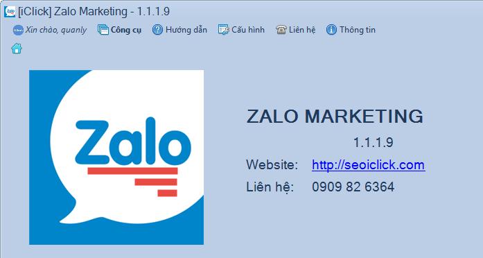 Nâng cấp phần mềm Zalo Marketing phiên bản 1.1.1.8