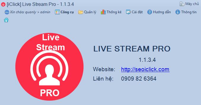Phần mềm livestream pro phiên bản 1.1.3.4
