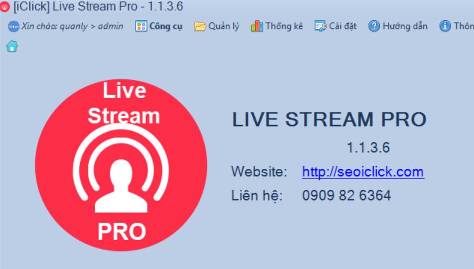 Phần mềm livestream pro phiên bản 1.1.3.6