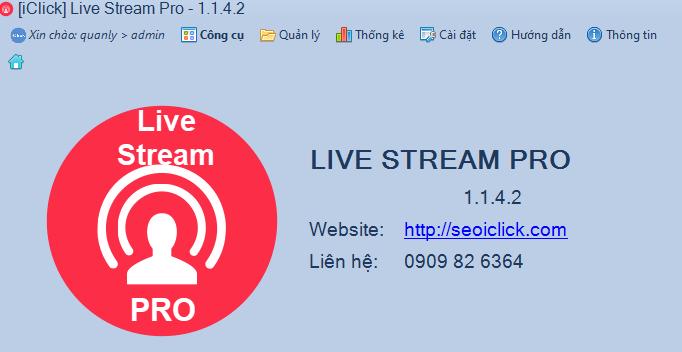 Cập nhật phiên bản 1.1.4.2 phần mềm LiveStream Pro