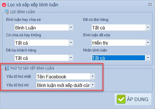 Phần mềm lọc đơn livestream facebook
