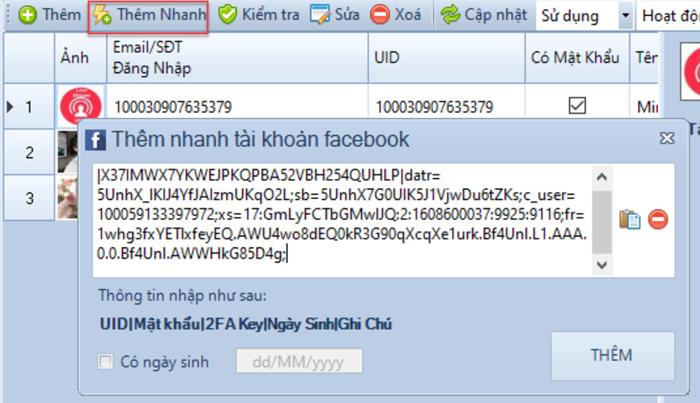 phần mềm nuôi nick facebook marketing