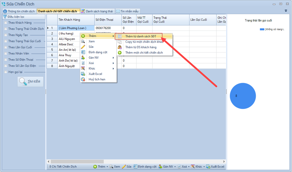 Phần mềm quản lý telesale phiên bản 1.0.3.8