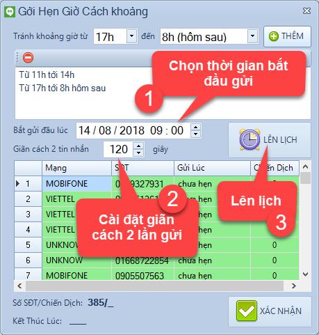 Nâng cấp phần mềm SMS Marketing phiên bản 1.0.9.8