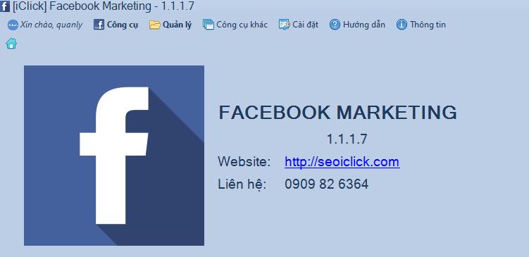Phần mềm Facebook Marketing chính thức hoạt động