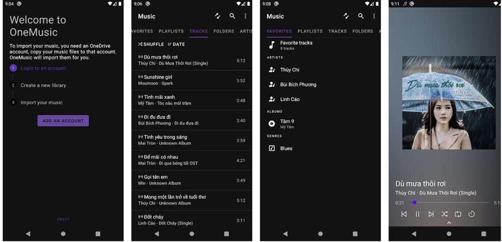 App nghe nhạc đơn giản và thông minh Onemusic
